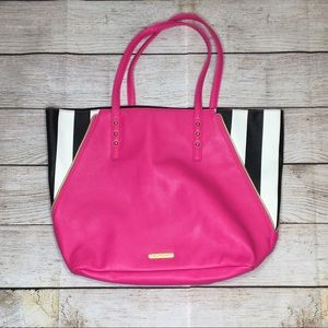 Juicy Couture pink, black & white tote bag
